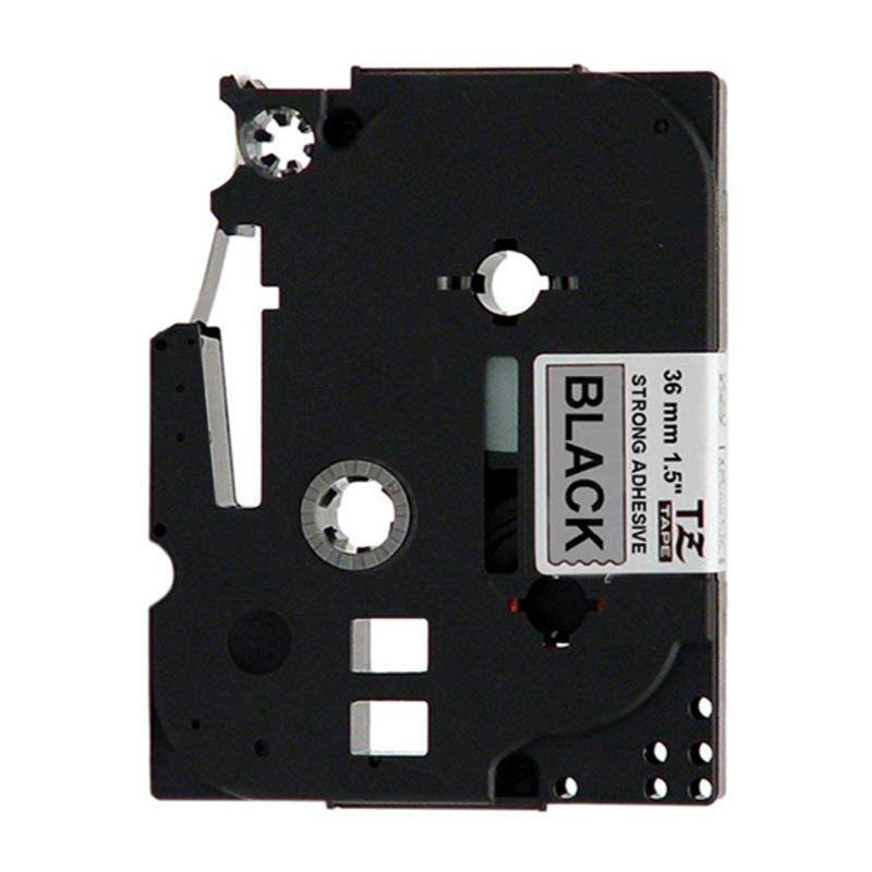Brother Label Tape TZE-SM961 Black On Silver Hitam Pita Printer [36 mm]