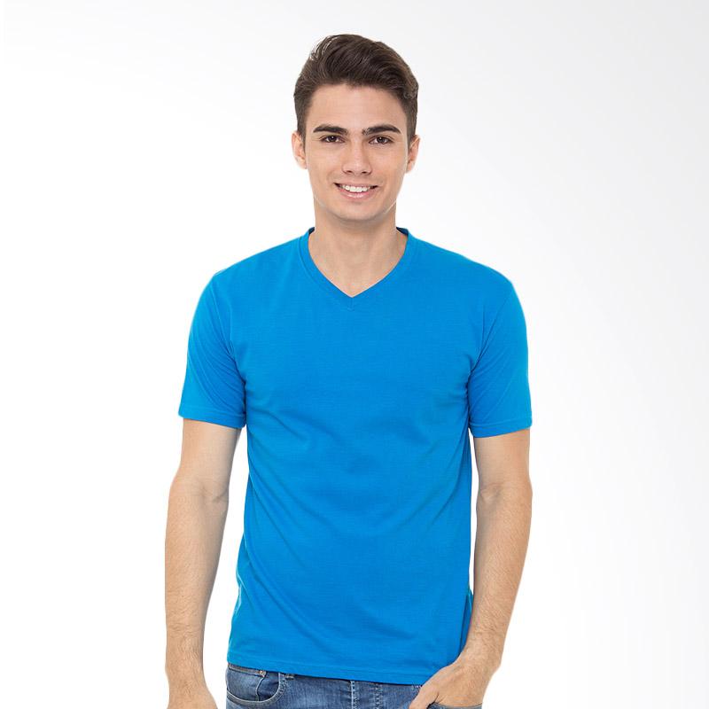 Browncola V-neck Kaos Pria - Blue Extra diskon 7% setiap hari Extra diskon 5% setiap hari Citibank – lebih hemat 10%