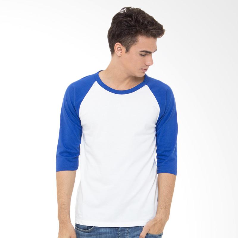 Browncola Raglan 3/4 Kaos Pria - Putih Biru Benhur Extra diskon 7% setiap hari Extra diskon 5% setiap hari Citibank – lebih hemat 10%