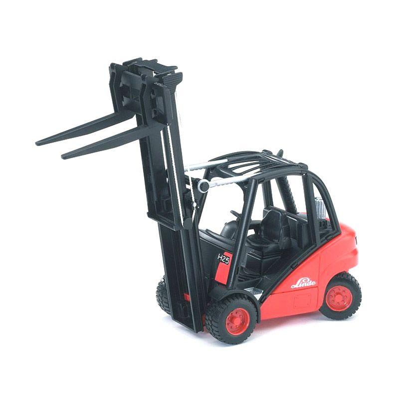 Bruder Toys Linde Fork Lift H30D With 2 Pallets Mainan Anak