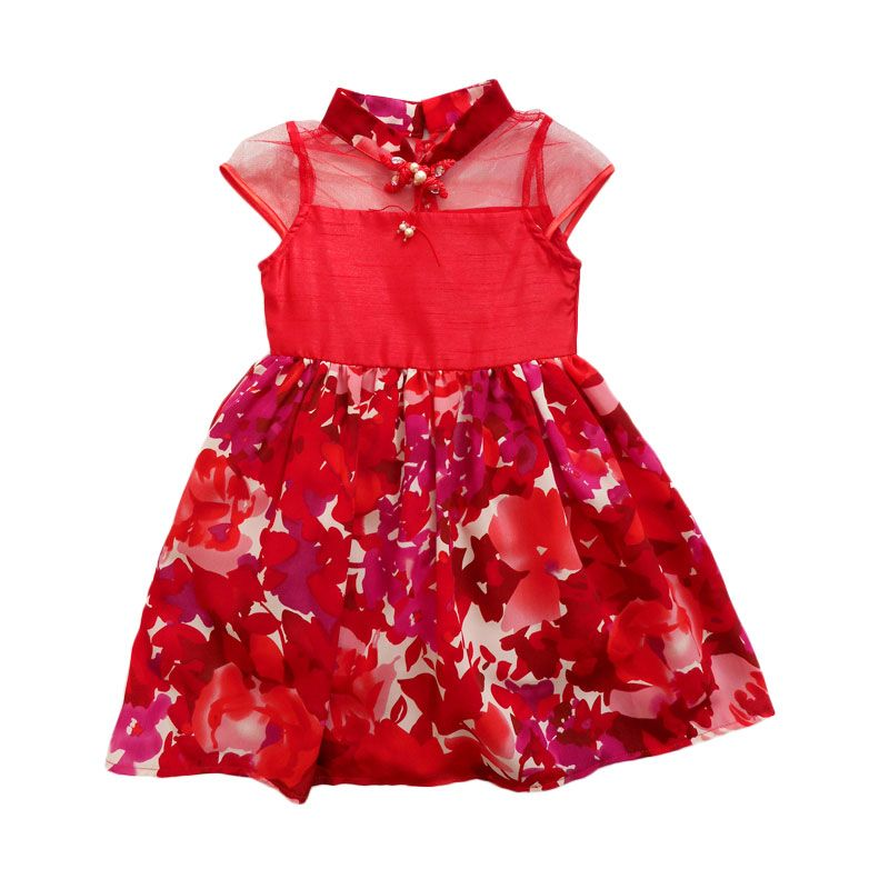 Bubble Girl Flower C...Dress Anak