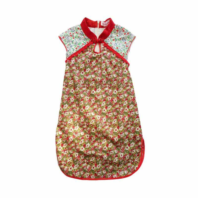 Bubble Girl Flower Lady Cheong Red Dress Anak