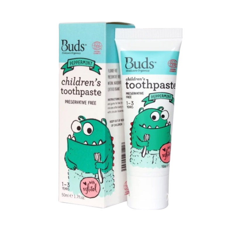 Buds - Natural Xylitol Peppermint [1-3 Years] - Pasta Gigi Organik