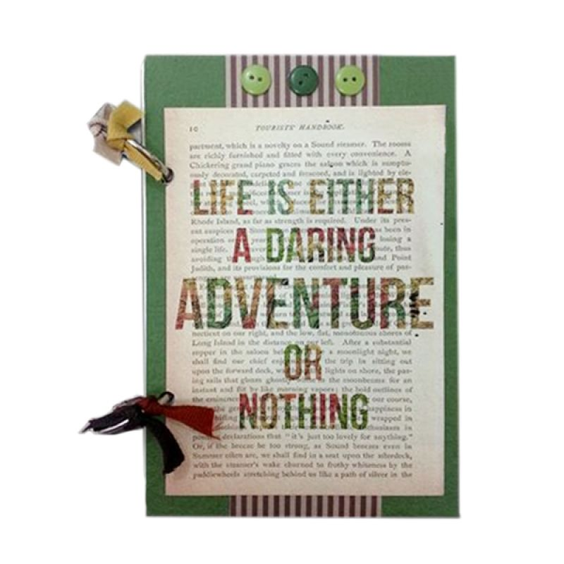 Bukuunik Adventure Or Nothing Green Buku Catatan