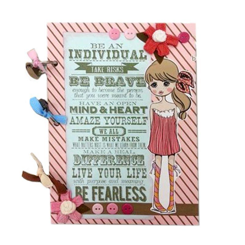 Bukuunik Be Brave Be Fearless Soft Pink Buku Catatan