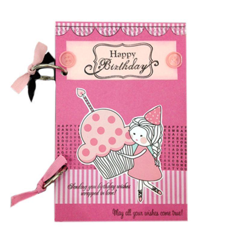 Bukuunik Girl Carry Cupcake Pink Buku Catatan