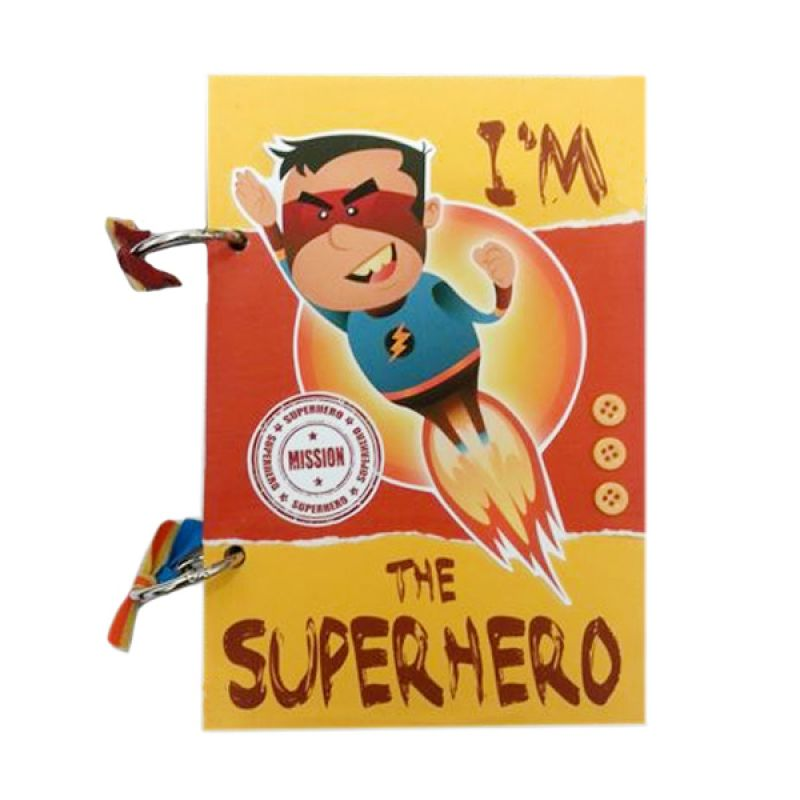 Bukuunik I'm The Superhero Yellow Buku Catatan