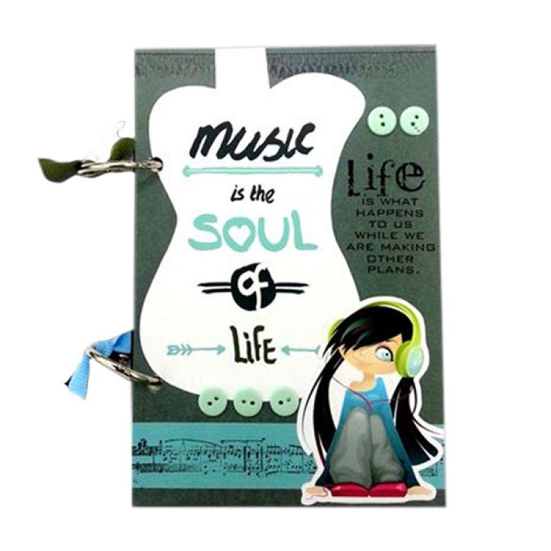 Bukuunik Music Is The Soul Green Buku Catatan