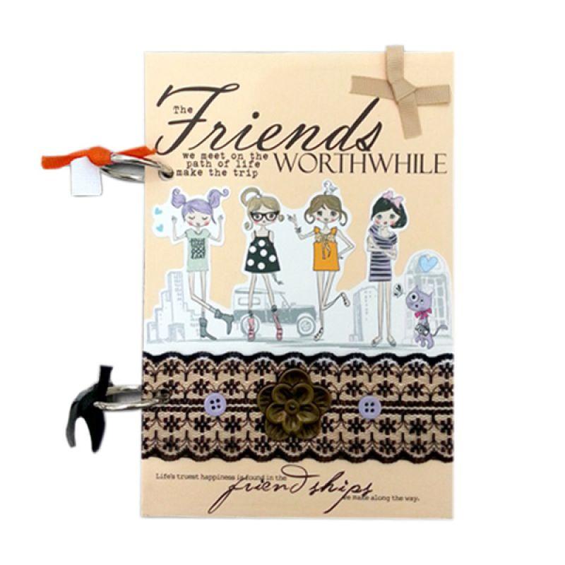 Bukuunik The Friends Worthwhile Peach Buku Catatan