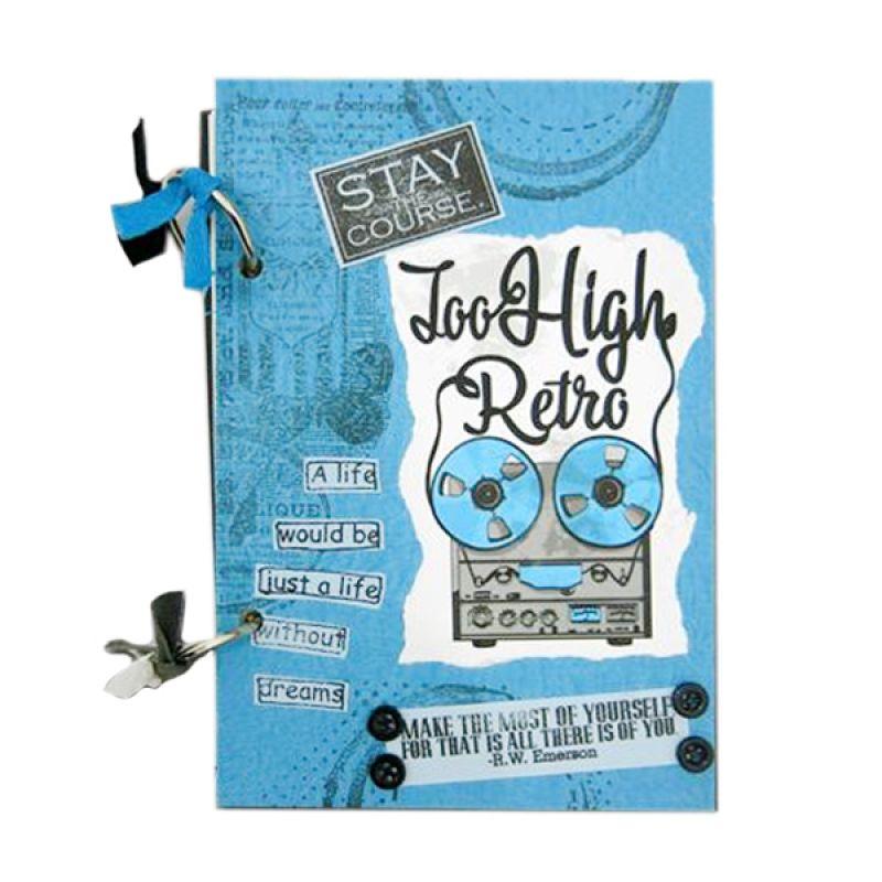 Bukuunik Too High Retro Blue Buku Catatan