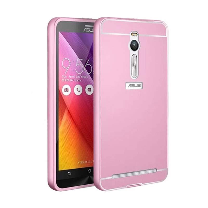 harga Bumper Mirror Alumunium Metal Sliding Hardcase Casing for Asus Zenfone 2 ZE551ML - Pink Rose [5.5 Inch] Blibli.com