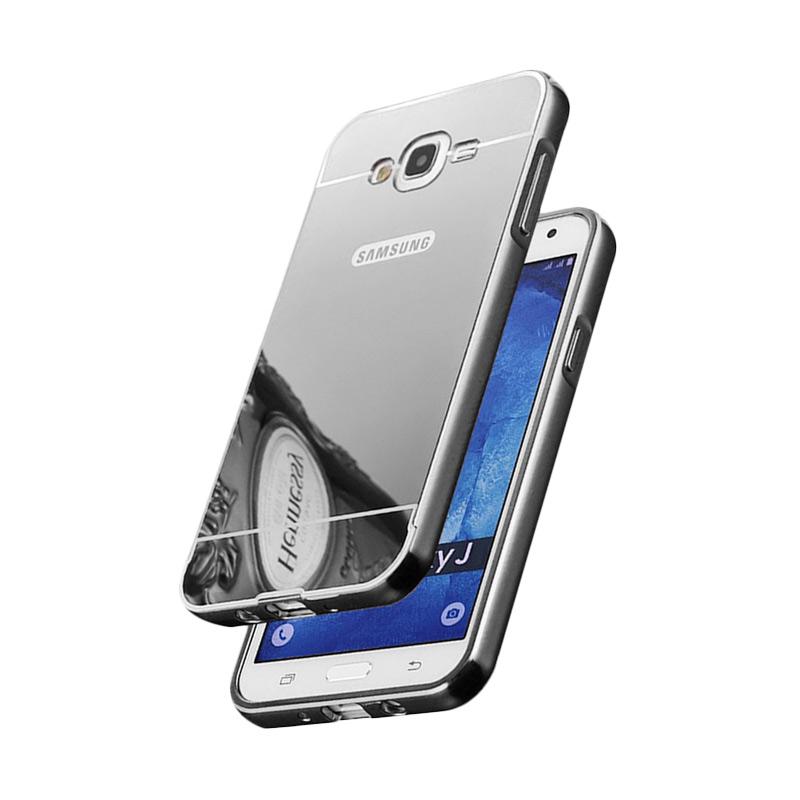 harga Bumper Mirror Alumunium Metal Slide Hardcase Casing for Samsung Galaxy J7 2016 J710 - Silver