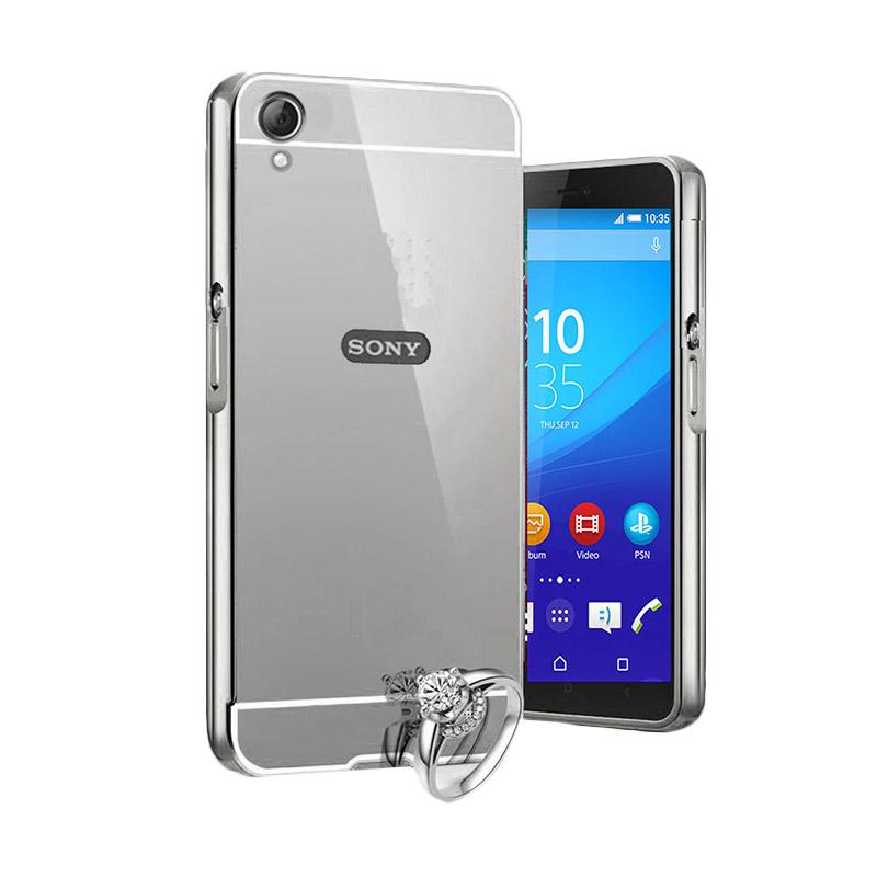 harga Bumper Mirror Alumunium Metal Sliding Hardcase Casing for Sony Xperia Z5 - Silver Blibli.com