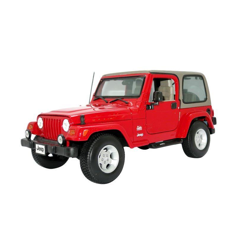 Bburago - 1:18 Gold - Jeep Wrangler Sahara - Red