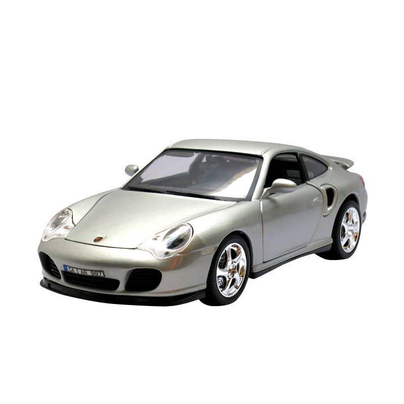 Bburago - 1:18 Gold - Porsche 911 Turbo - Silver