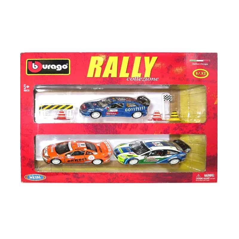 Bburago - 1:32 Rally with 6 Pcs Access. 3 Pcs