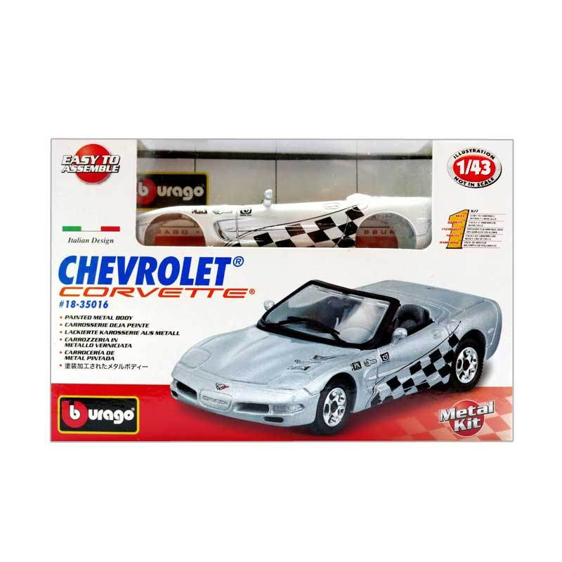 Bburago - 1:43 Kit Collezione Assorted - Chevrolet Corvette R
