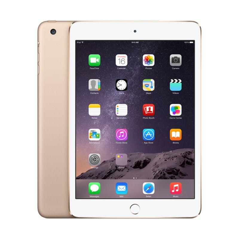 Apple iPad Mini 3 Gold Tablet [128GB/Wifi+Cell/Refurbish]