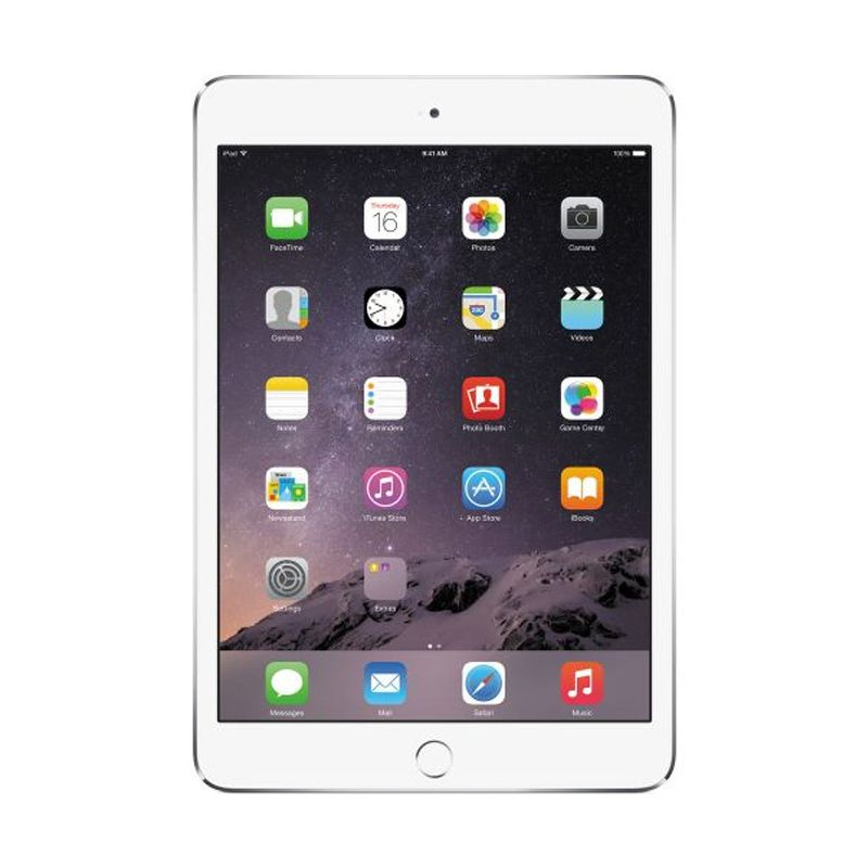 Apple iPad Mini 3 Silver Tablet [16GB/Wifi+Cell/Refurbish]