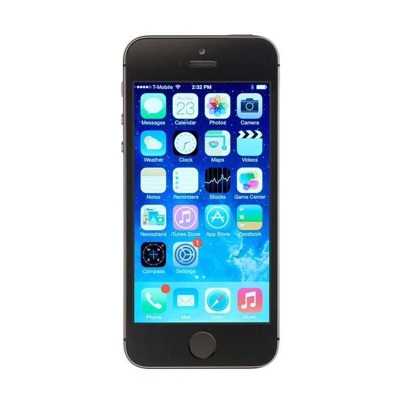 Diskon Apple iPhone 5S 16 GB Space Grey Smartphone [Refurbish]
