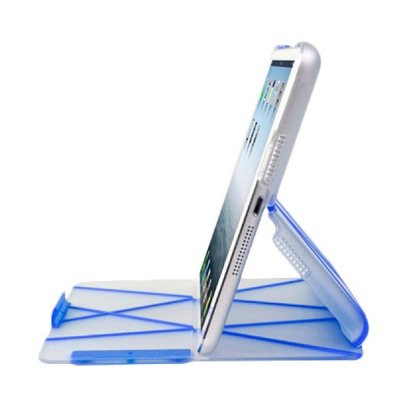 Ahha Azzaro Tangram Biru Flip Casing for iPad Mini