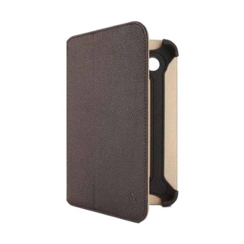 Belkin Folio Bi-Fold Cokelat Casing for Galaxy Tab 2 [7.0 Inch]