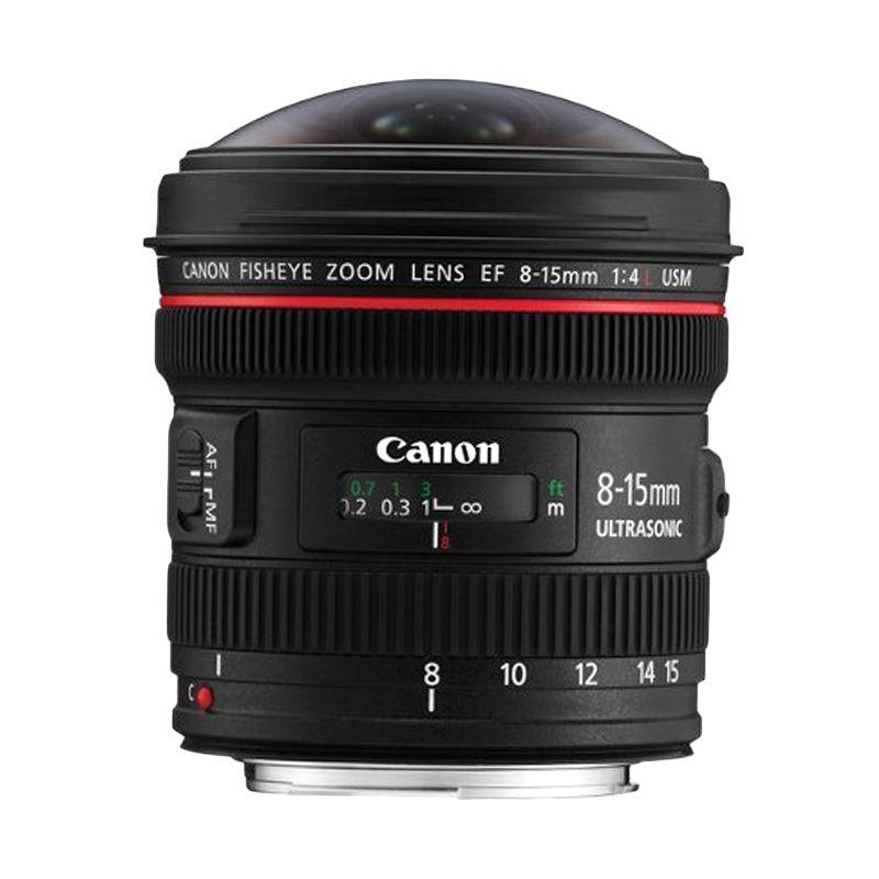 Canon EF 8-15mm f/4L Fisheye USM Lensa Kamera