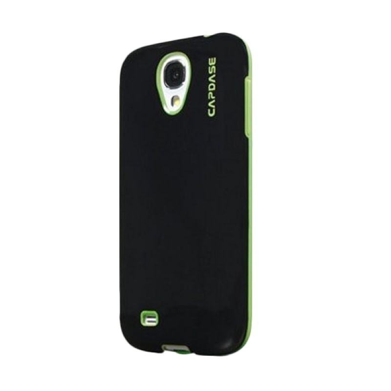 Capdase Soft Jacket Vika Hitam Hijau Casing for Galaxy S4 Mini