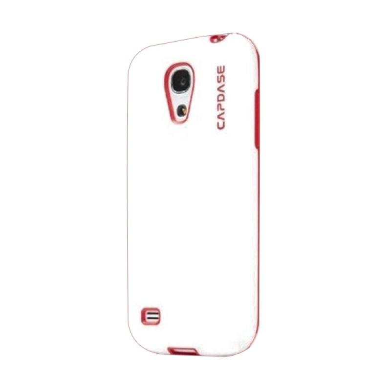 Capdase Soft Jacket Vika Putih Merah Casing for Galaxy S4 Mini