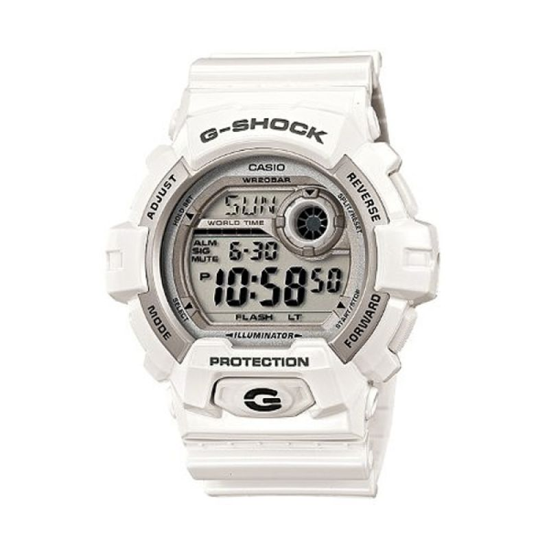 Casio G-Shock G-8900A-7DR White Jam Tangan Pria