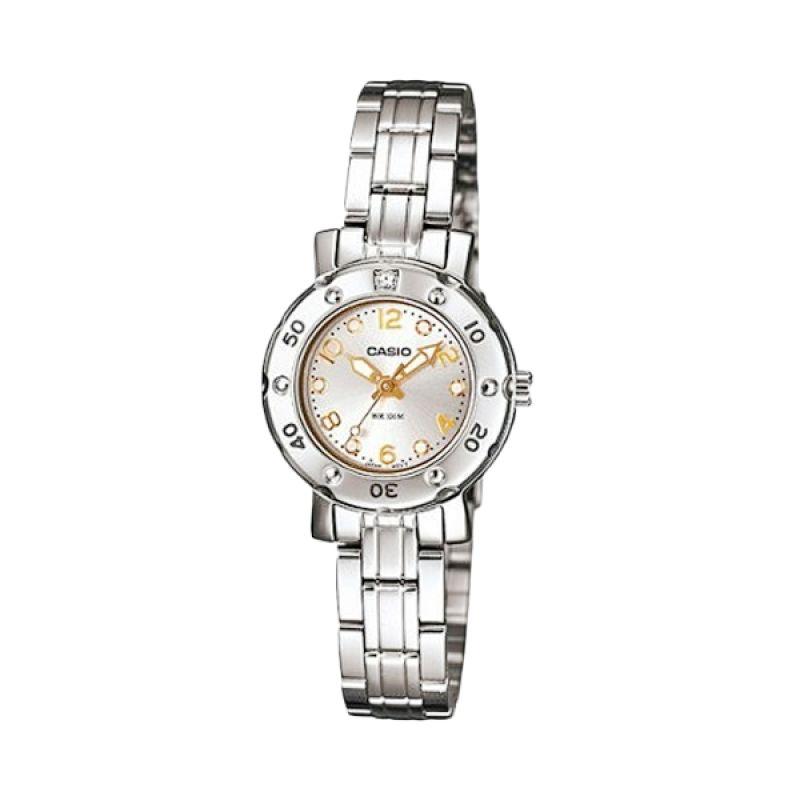 Casio Analog LTD-2002D-7AVDF Silver Putih Jam Tangan Wanita