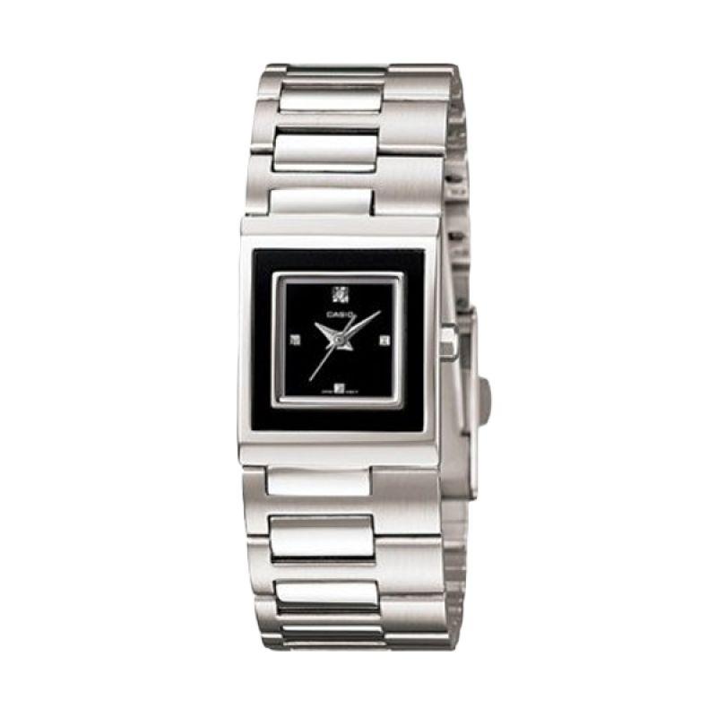 Casio Analog LTP-1317D-1CDF Silver Putih Jam Tangan Wanita