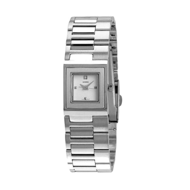 Casio Analog LTP-1317D-7CDF Silver Putih Jam Tangan Wanita