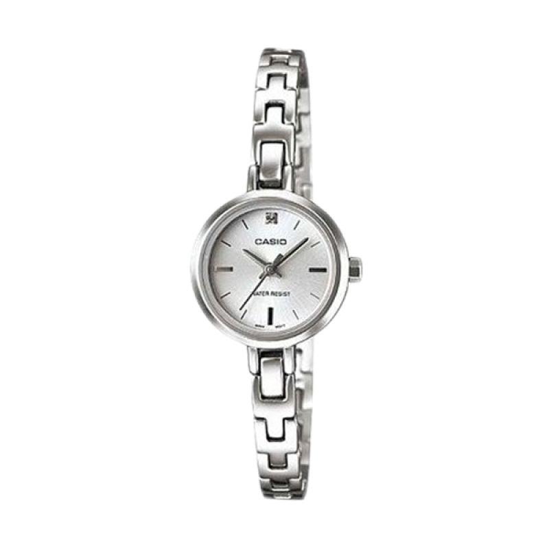 Casio Analog LTP-1351D-7CDF Silver Jam Tangan Wanita