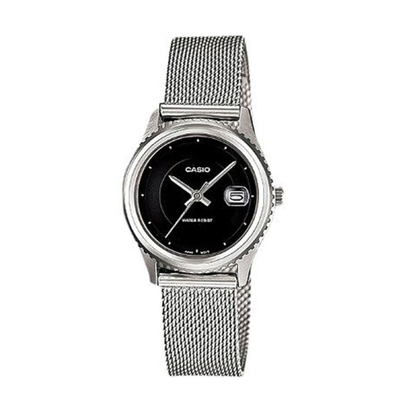 Casio Analog LTP-1365BD-1EDF Silver Hitam Jam Tangan Wanita