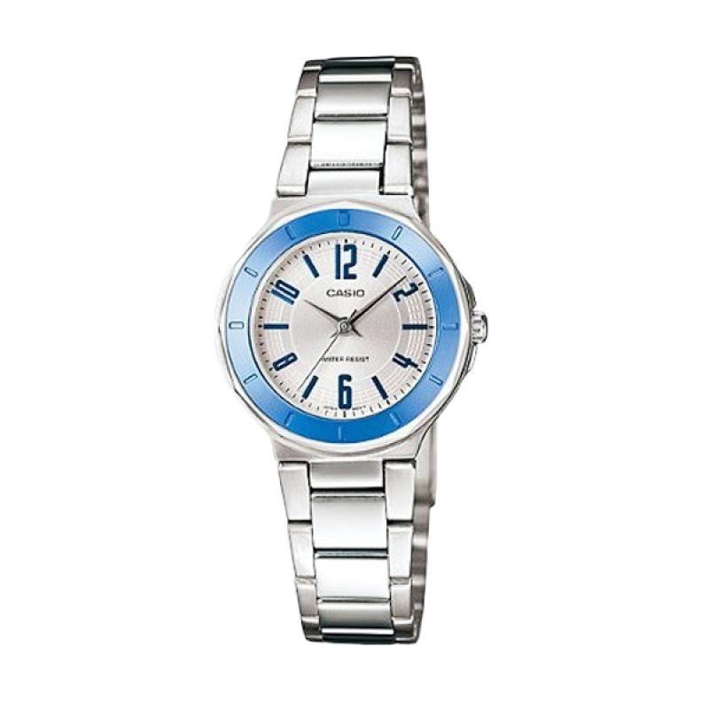 Casio Analog LTP-1367D-7ADF Putih Biru Jam Tangan Wanita
