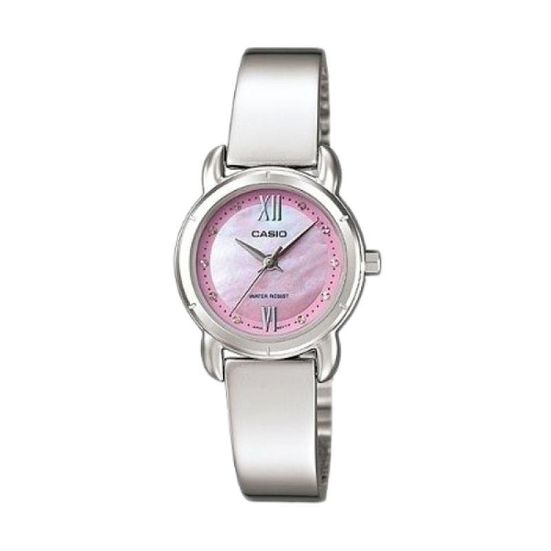 Casio Analog LTP-1344D-4ADF Silver Pink Jam Tangan Wanita