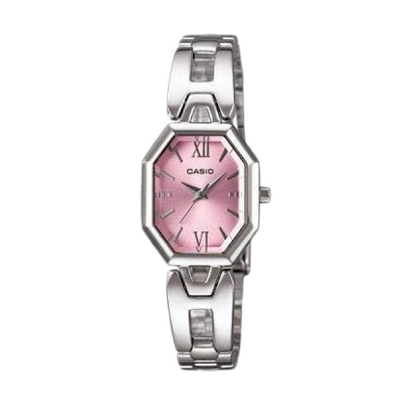 Casio Analog LTP1347D-4ADF Silver Pink Jam Tangan Wanita