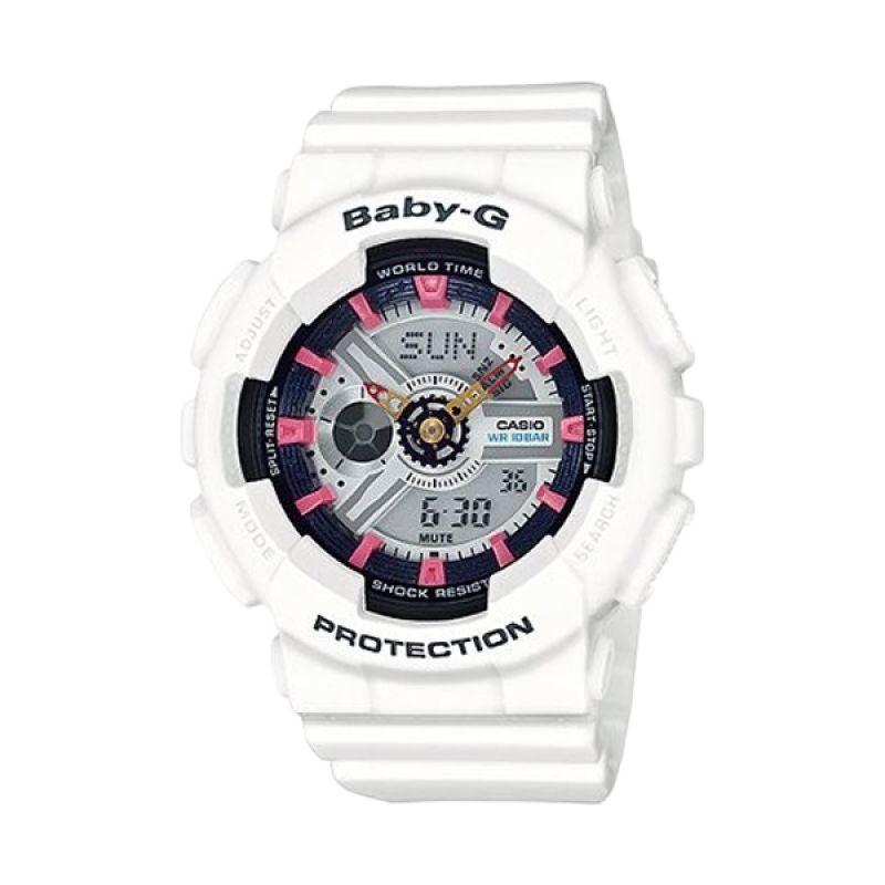 Casio Baby G BA-110SN-7ADR Putih Jam Tangan Wanita