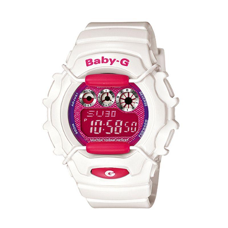 Casio Baby G BG-1006SA-7ADR Putih Pink Jam Tangan Wanita