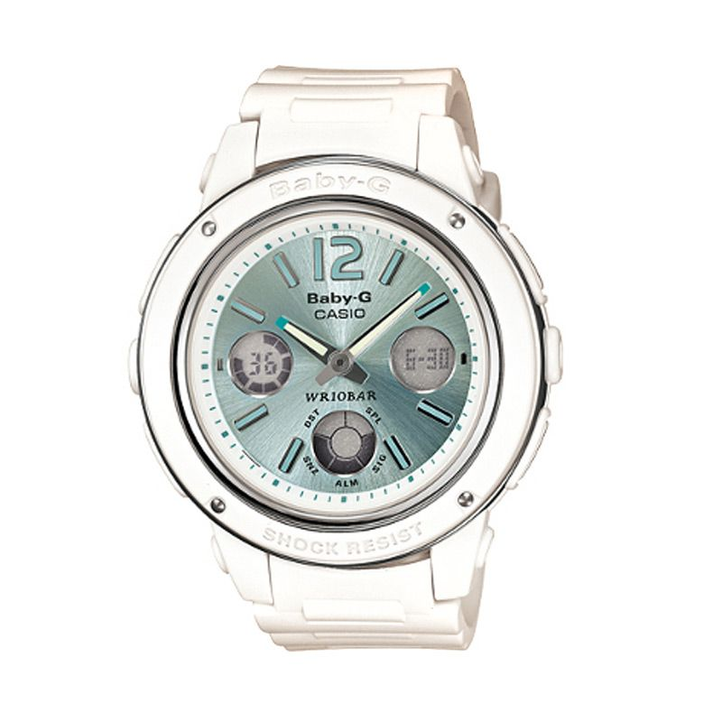 Casio Baby G BGA-150-7B2DR Putih Hijau Jam Tangan Wanita
