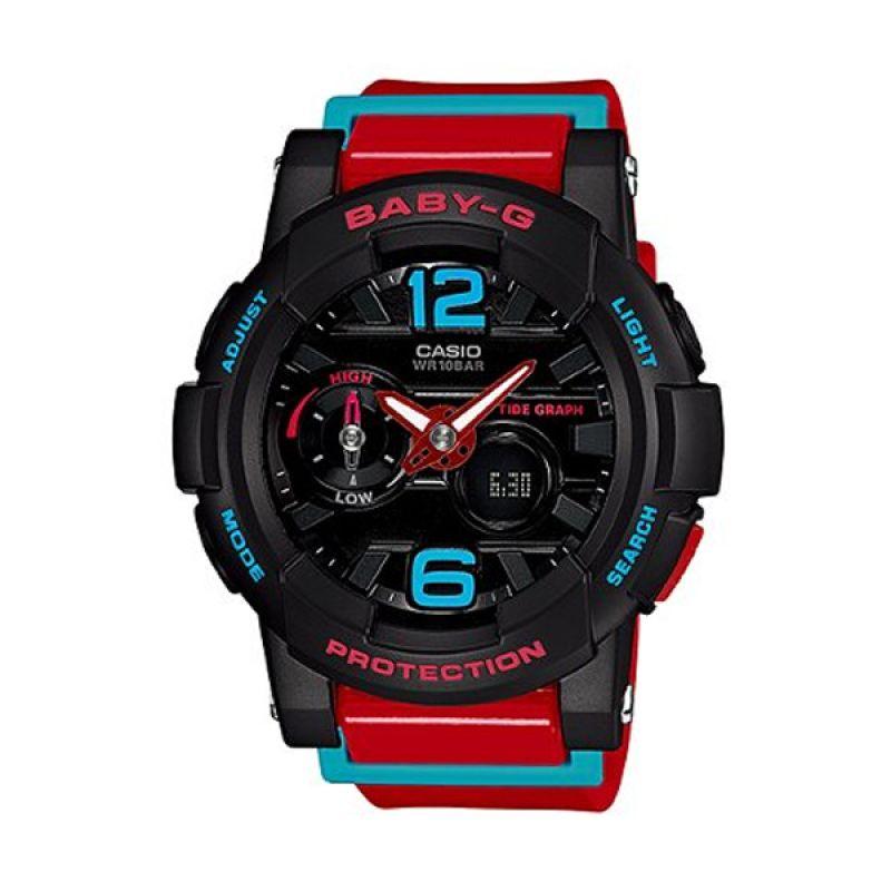 Casio Baby-G BGA-180-4BDR Hitam Merah Jam Tangan Wanita