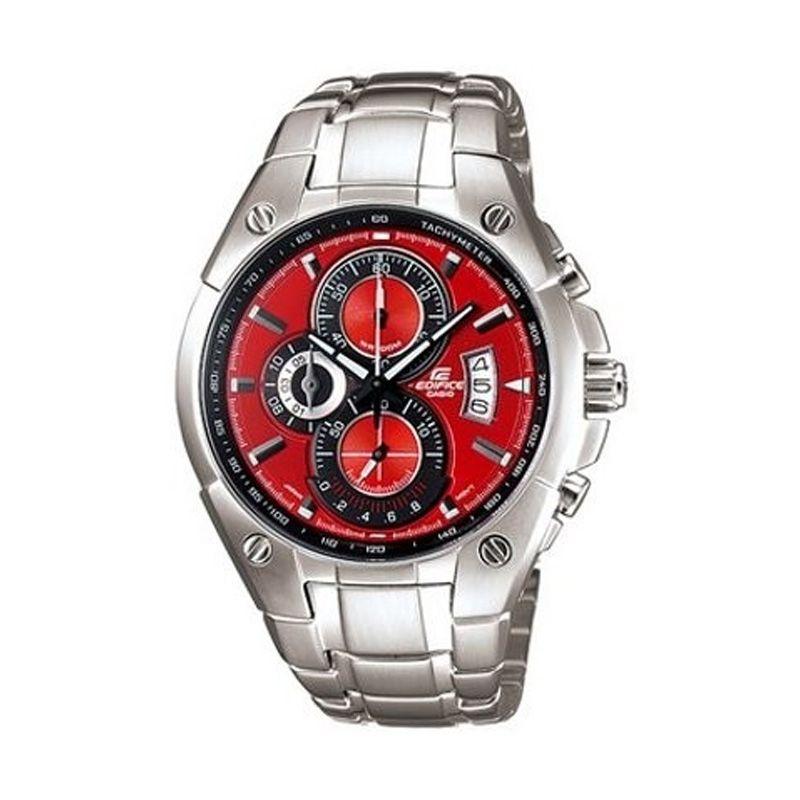 Casio Edifice EF-555D-4AVDF Silver Merah Jam Tangan Pria