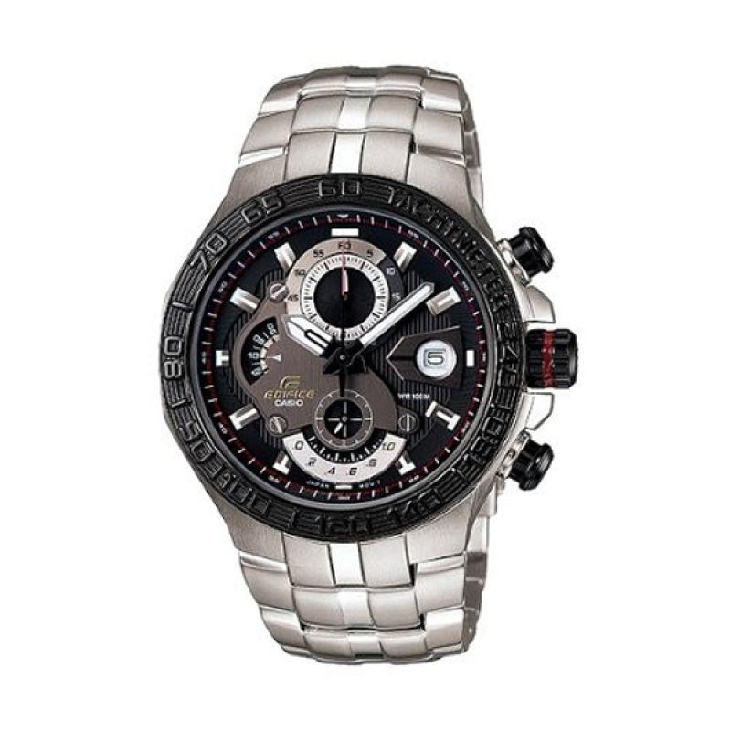Casio Edifice EFE-505D-1AVDR Black Silver Jam Tangan Pria
