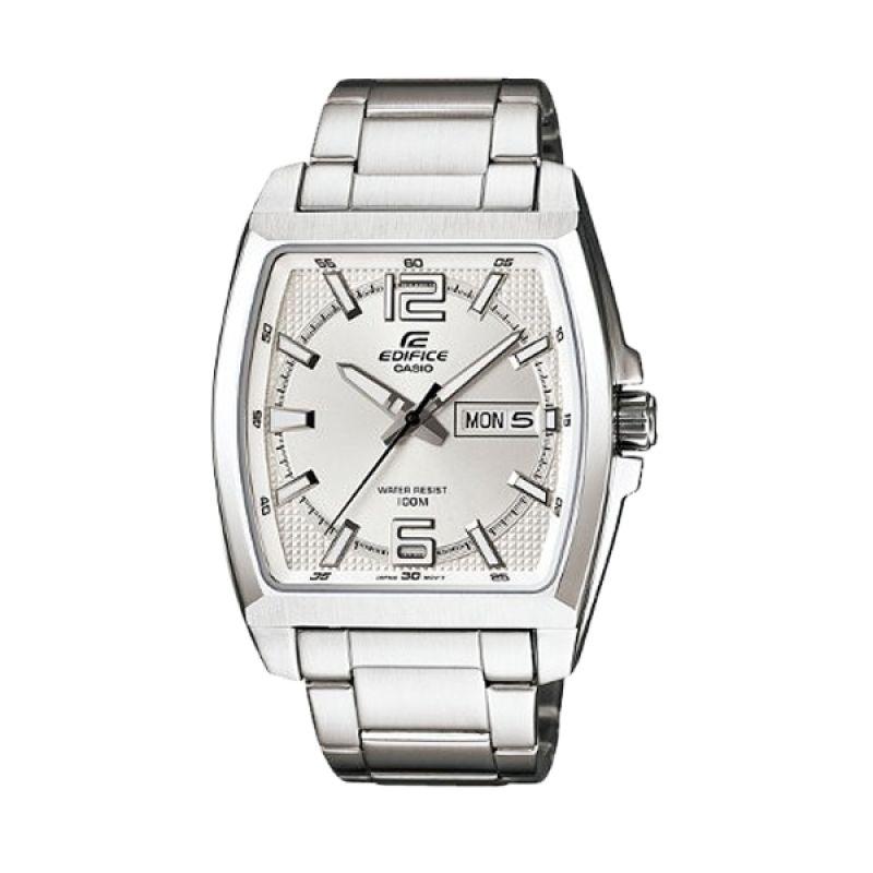 Casio Edifice EFR-100D-7AVDF Silver Putih Jam Tangan Pria