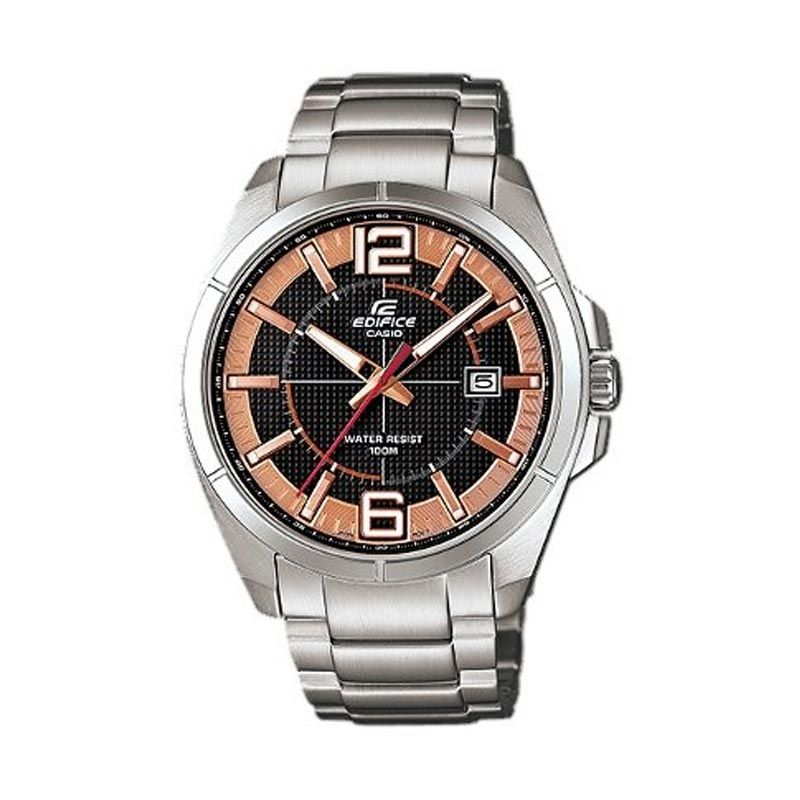 Casio Edifice EFR-101D-1A5VDF Black Brown Jam Tangan Pria