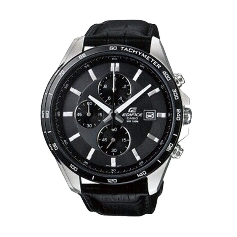Casio Edifice EFR-512L-8AVDF Black Grey Jam Tangan Pria