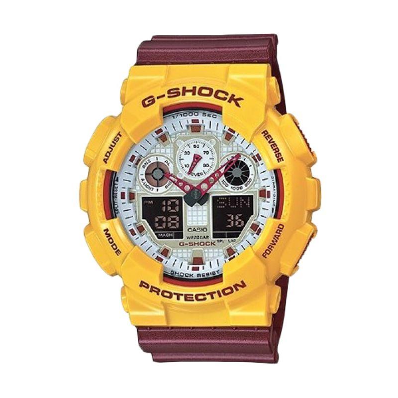Casio G Shock GA-100CS-9ADR Jam Tangan Pria