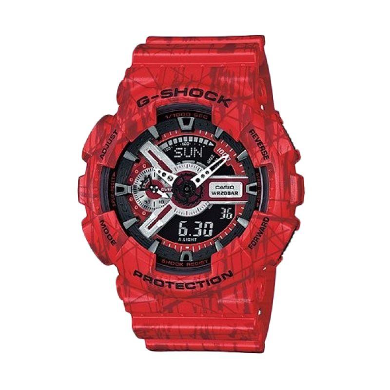 Casio G Shock GA-110SL-4ADR Merah Jam Tangan Pria