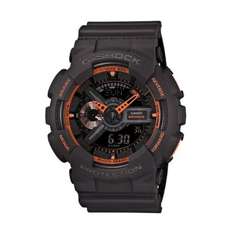 Casio G-Shock GA-110TS-1A4DR Black Orange Jam Tangan Pria